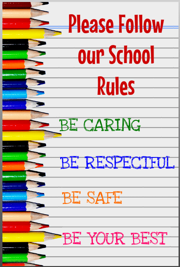 School Rules made with Poster My Wall