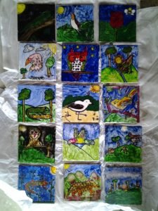 Painted tiles